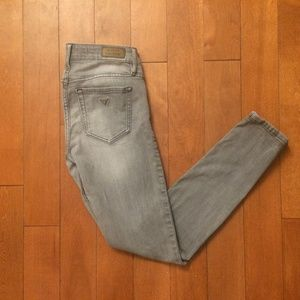 Guess grey wash stretch skinny jeans
